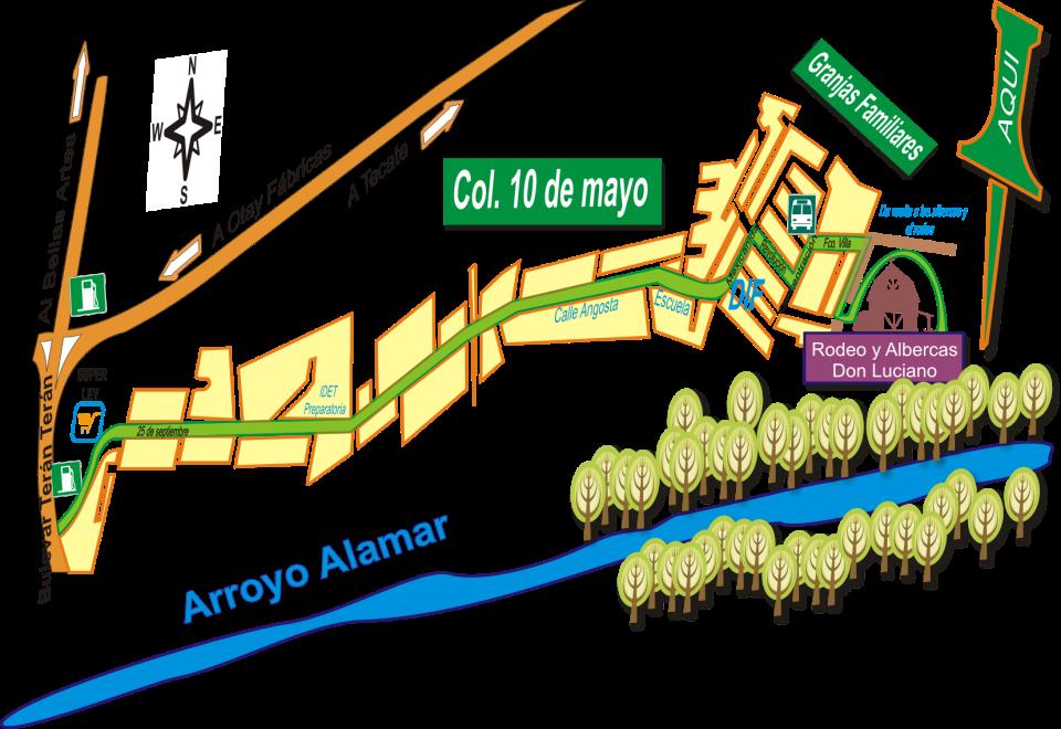 Mapa: Cortijo Don Luciano, Arroyo Alamar